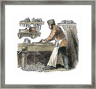 Carpenter, C1865 Framed Print by Granger
