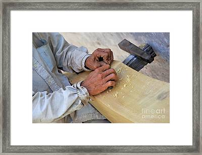 Carpenter's Hands Framed Print by Sami Sarkis