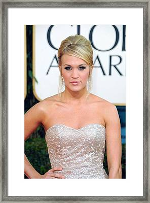 Carrie Underwood At Arrivals For The Framed Print by Everett