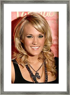 Carrie Underwood At In-store Appearance Framed Print by Everett