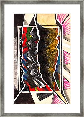 Torn Plastic Picture Plane Framed Print by Al Goldfarb
