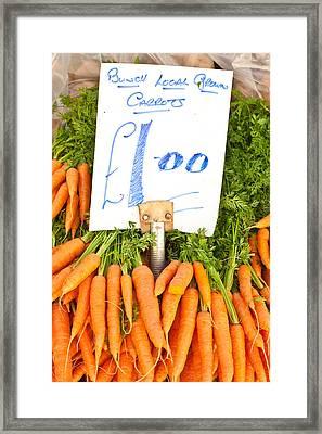 Carrots Framed Print by Tom Gowanlock