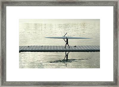Carrying Single Scull Framed Print by Lynn Koenig