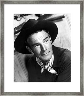 Carson City, Randolph Scott, 1952 Framed Print by Everett