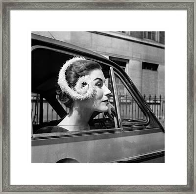 Carton Hat Framed Print by Juliette Lasserre