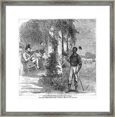 Cartoon: Emancipation Framed Print by Granger