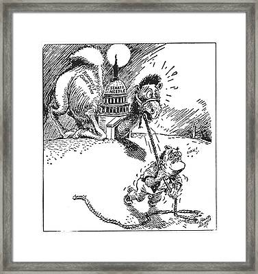 Cartoon: New Deal, 1937 Framed Print by Granger