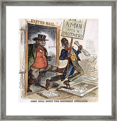Cartoon: Slavery, 1861 Framed Print by Granger
