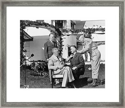 Casablanca Conference, 1943 Framed Print by Granger