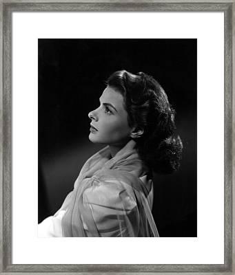 Casablanca, Ingrid Bergman, 1942 Framed Print by Everett