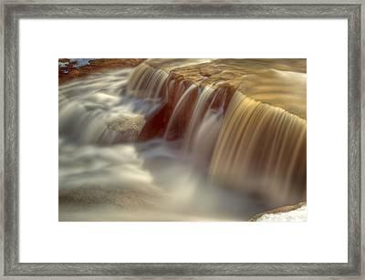 Cascade At Blue Hen Falls Framed Print by Jennifer Grover