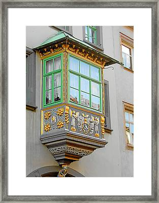 Casement Window Into Weimar's Past Framed Print by Christine Till
