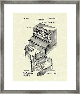 Cash Register 1885 Patent Art Framed Print by Prior Art Design