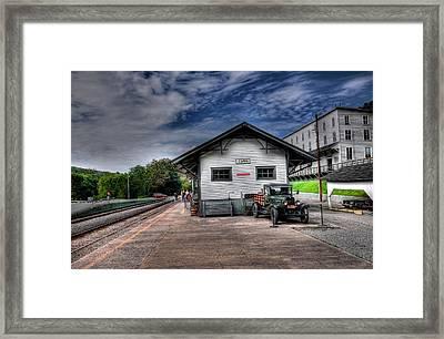 Cass Train Depot Framed Print by Todd Hostetter