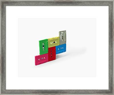 Cassette Tapes Framed Print by Richard Newstead