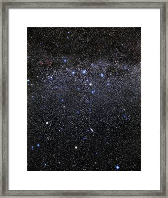 Cassiopeia And Andromeda Constellations Framed Print by Eckhard Slawik