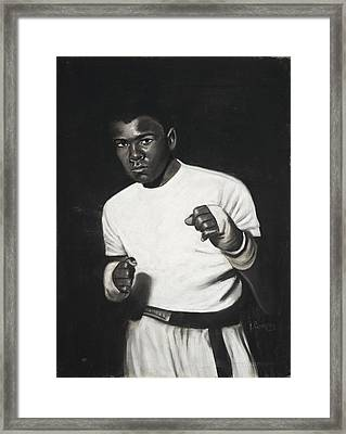 Cassius Clay Framed Print by L Cooper