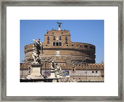 Castel Saint Angelo On The River Tiber. Rome Framed Print by Bernard Jaubert
