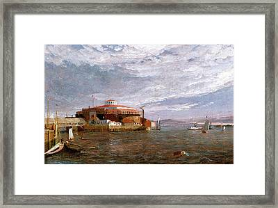 Castle Garden Day Framed Print by Jasper Francis Cropsey