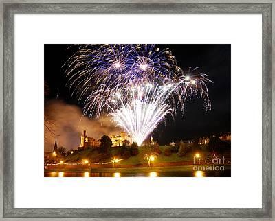 Castle Illuminations Framed Print by John Kelly
