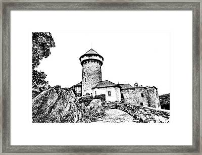 Castle Of The Holy Order Framed Print by Michal Boubin