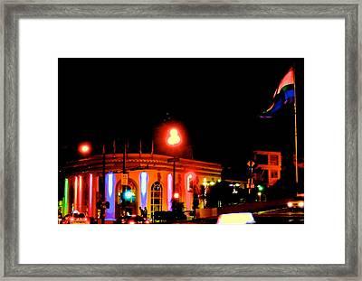 Castro Rainbows Framed Print by Steven I Lanzet