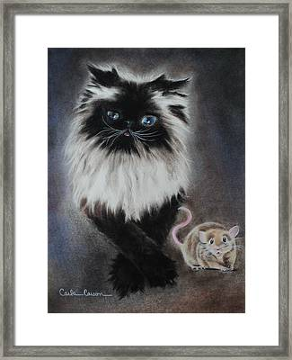 Cat N Mouse Say Cheeeeeeese Framed Print by Carla Carson