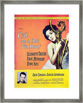 Cat On A Hot Tin Roof, Elizabeth Framed Print by Everett