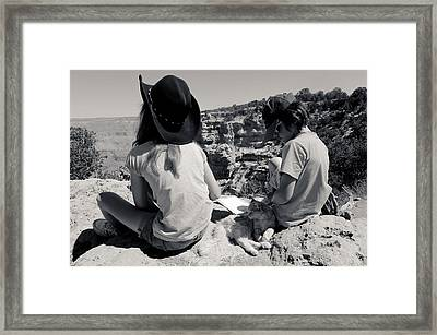 Cat On The South Kaibab Trail Framed Print by Julie Niemela