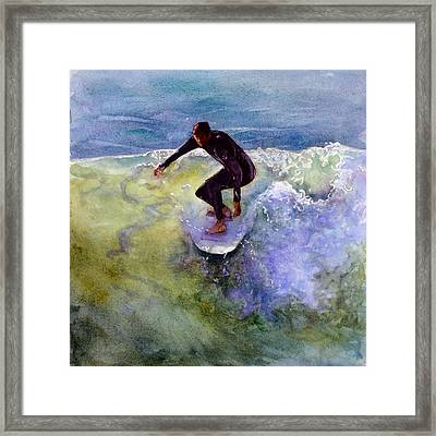 Catch A Wave Framed Print by Bonnie Rinier