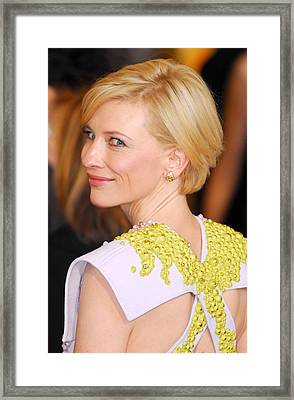 Cate Blanchett At Arrivals For The 83rd Framed Print by Everett