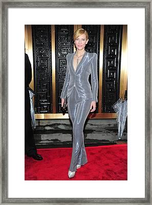 Cate Blanchett Wearing An Armani Prive Framed Print by Everett