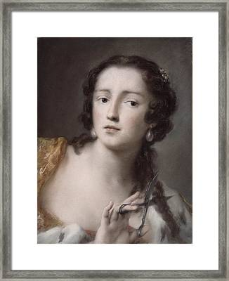 Caterina Sagredo Barbarigo As 'bernice' Framed Print by Rosalba Giovanna Carriera
