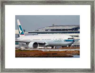 Cathay Pacific Airlines Jet Airplane At San Francisco International Airport Sfo . 7d11850 Framed Print by Wingsdomain Art and Photography
