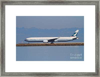 Cathay Pacific Airlines Jet Airplane At San Francisco International Airport Sfo . 7d11919 Framed Print by Wingsdomain Art and Photography