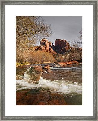 Cathedral Rock In Sedona Arizona Framed Print by Randall Nyhof