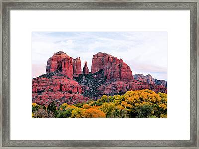 Cathedral Rock Framed Print by Kristin Elmquist