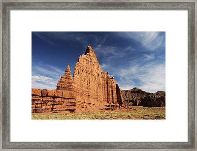 Cathedral Valley Framed Print by David Hogan