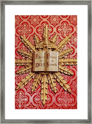 Catholic Church Decorations Framed Print by Gaspar Avila