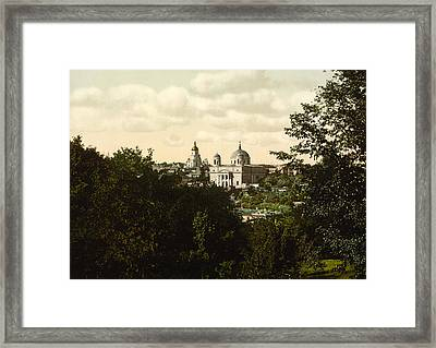 Catholic Church In Kiev - Ukraine - Ca 1900 Framed Print by International  Images