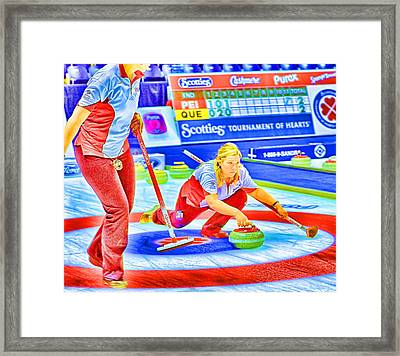 Cathy Color Framed Print by Lawrence Christopher