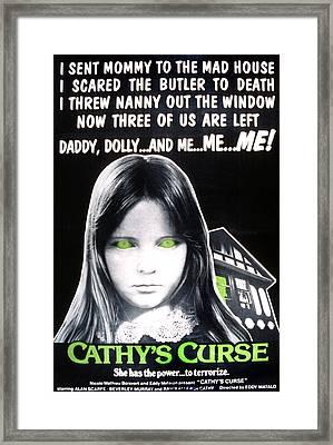 Cathys Curse, Aka Cauchemares Une Si Framed Print by Everett