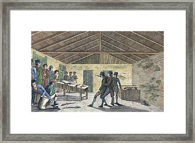 Cato Street Conspiracy Arrests Framed Print by Middle Temple Library