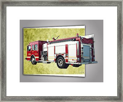 Catoosa Fire Engine 4 Framed Print by Linda Deal