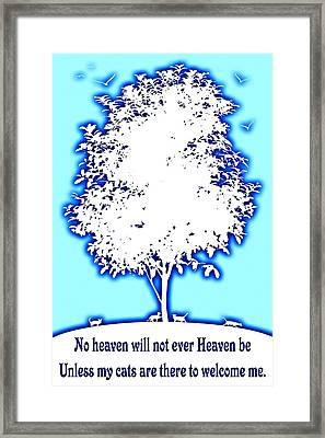 Cats In Heaven Framed Print by David G Paul
