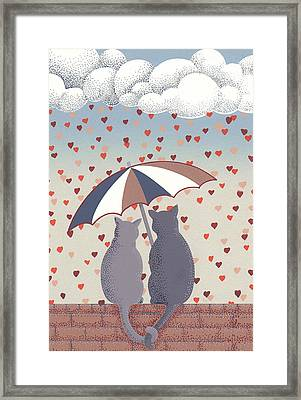 Cats In Love Framed Print by Anne Gifford