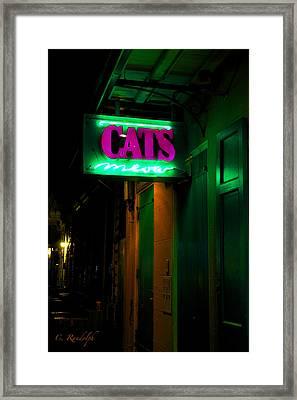 Cat's Meow Framed Print by Cheri Randolph