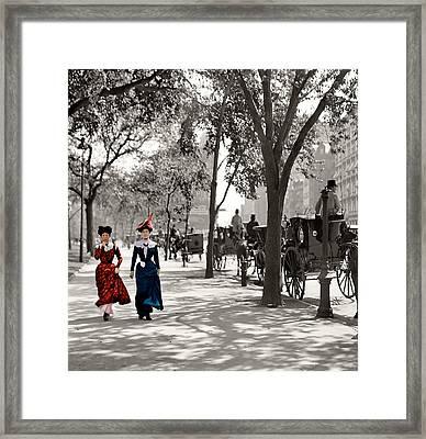 Catwalk In New York 1901 Framed Print by Steve K