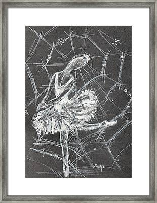 Caught In A Web  Framed Print by Sladjana Lazarevic