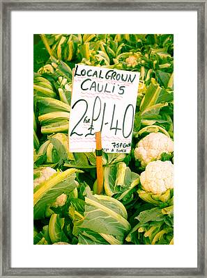 Cauliflower Framed Print by Tom Gowanlock